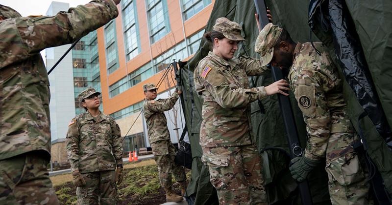National Guard Deploys In Baltimore As City Enforces Restrictive Curfew