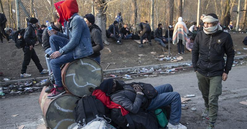 Watch: Turkey Invades Europe as Islamists Use Children as Human Shields