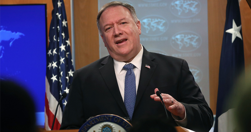 Pompeo Slams China's 'Imperfect Coronavirus Data' For Putting US 'Behind the Curve'