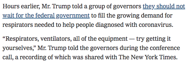 NY Times Caught Lying by Omission Over Trump Coronavirus Quote