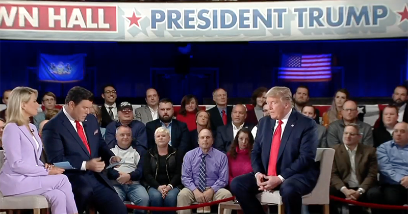 Trump Defends Combative Style at Town Hall: 'We Have to Hit Back'