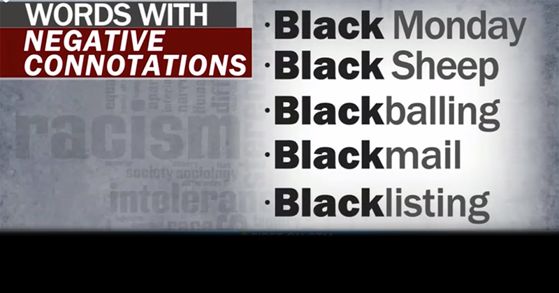Video: CBS Argues That Any Term With The Word 'Black' In It Is Racist