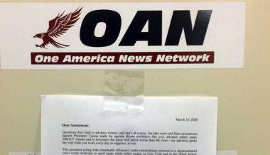 OANN Reporter Owns Journos Who Wrote Pathetic Note About 'Chinese Virus' Question