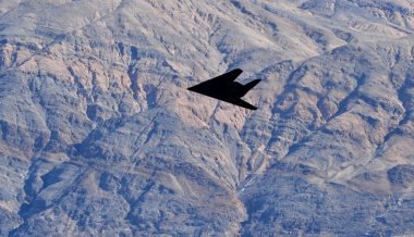 Retired F-117 Stealth Fighter Spotted in California