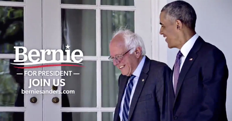 Bernie Cozies Up To Obama In New Ad Following Super Tuesday Loss