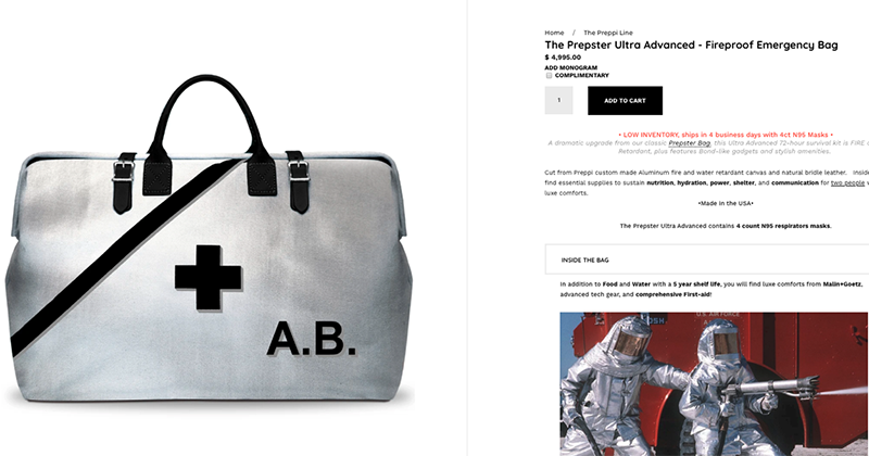 Elites Are Buying These Emergency $5,000 Go-Bags To Survive Virus Crisis