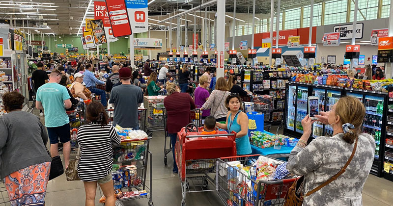 """Pandemonium"": Last-Minute Preppers Raid Texas' Largest Grocery Chain Over Coronavirus Fears"