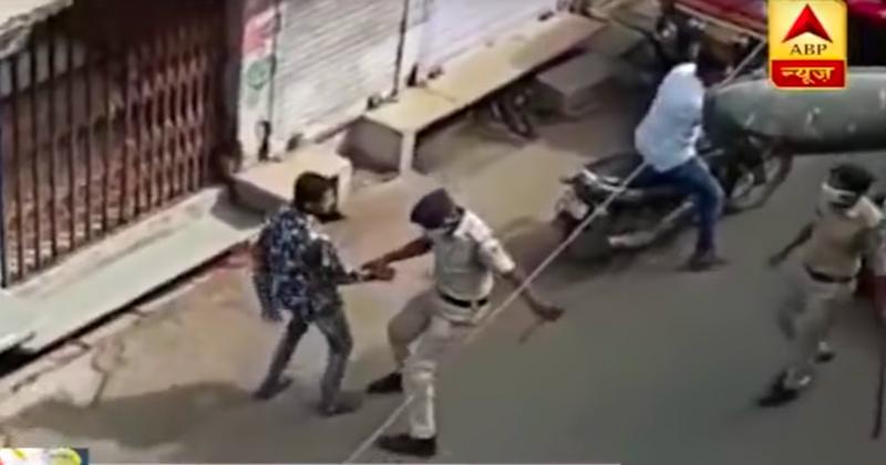 Indian Police Beating Lockdown Violators