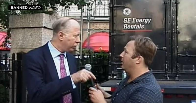 From The Infowars Vault: Alex Jones Confronts Bohemian Grove Member David Gergen