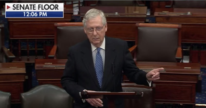 McConnell Unleashes On Democrats For Blocking Emergency Coronavirus Relief Package