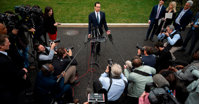 Mnuchin Says 'We Will Do Everything to Keep Markets Open'