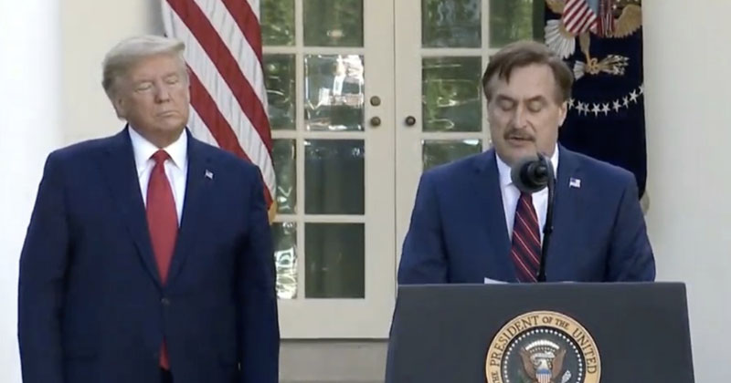 Media Melts Down Over My Pillow CEO Taking Part In White House Coronavirus Briefing