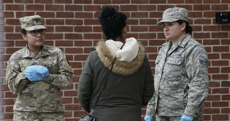 Texas National Guard Going Door-to-Door To Question Who Has Made Contact With Coronavirus Victim