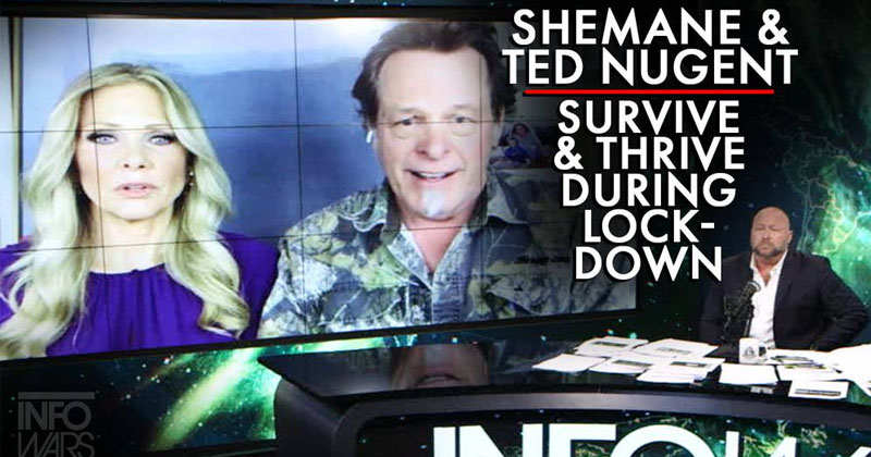 POWERFUL! Ted Nugent & Wife Shemane Talk How To Survive & Thrive During China Virus Lockdown