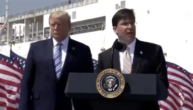 Watch: President Trump Delivers Remarks At Naval Station As Hospital Ship Embarks For NYC