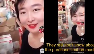 'Nothing Left For the Americans': Chinese Woman Brags About Buying Up Supply of N95 Masks