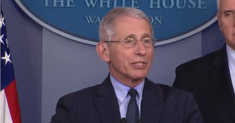 """Fauci Says Lockdown Will Continue Until There Are No """"New Cases"""" of Coronavirus"""