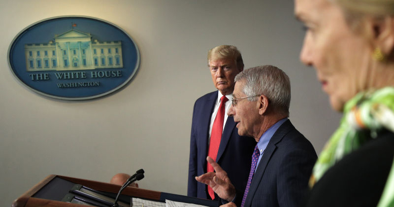"Watch: Trump Says He ""Totally Disagrees"" With Fauci on Fall School Closures"