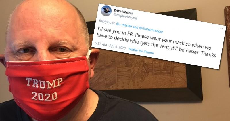 Registered Nurse Threatens to Deny Trump Supporter Coronavirus Treatment