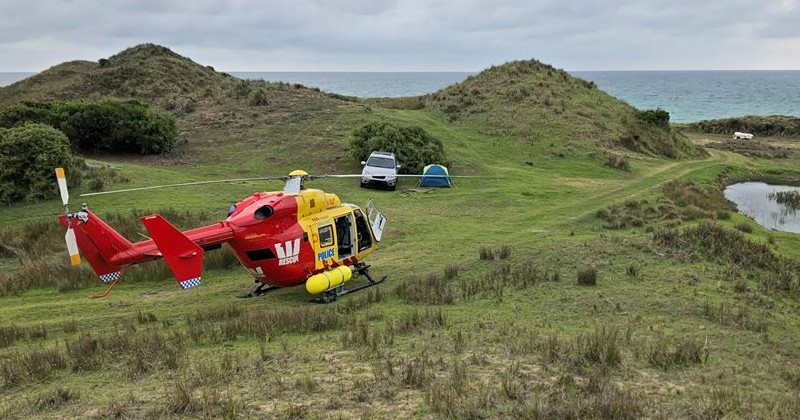 Australian Police Use Surveillance Helicopter to Track Down Remote Campers