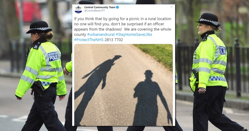 UK Police Force Brags About 'Hiding in the Shadows' to Catch Picnic-Goers