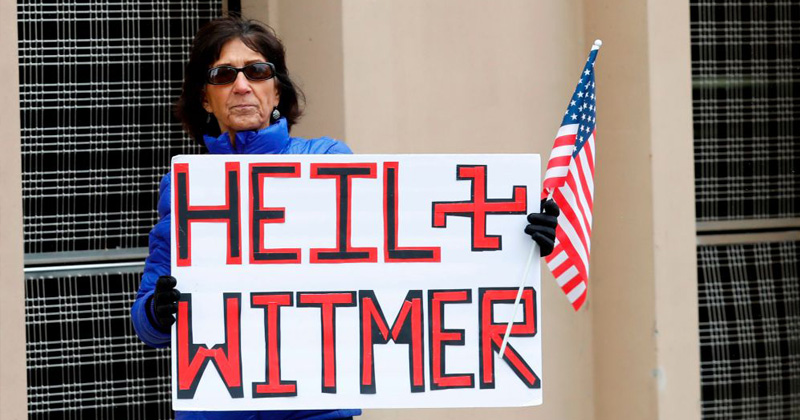 Dems Try To Paint Michigan Protesters As Nazis - 'Signs Had Swastikas'
