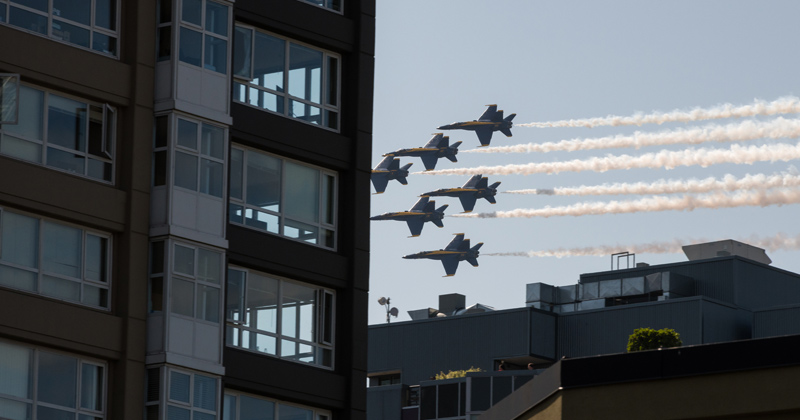 Watch Blue Angels & Thunderbirds Fly Over Major Cities To Honor First Responders