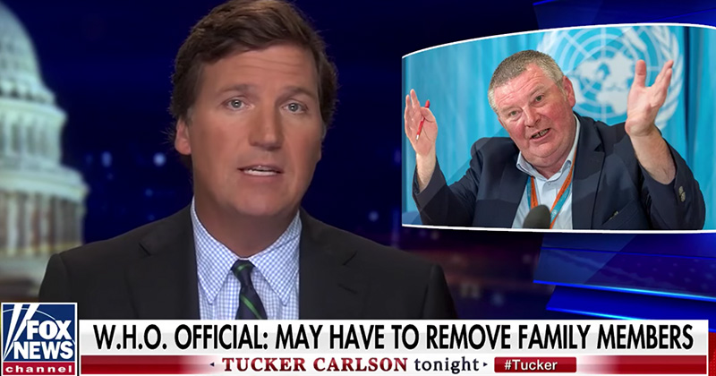 Tucker: How Will Americans Respond if Health Authorities Remove Family Members From Their Homes?