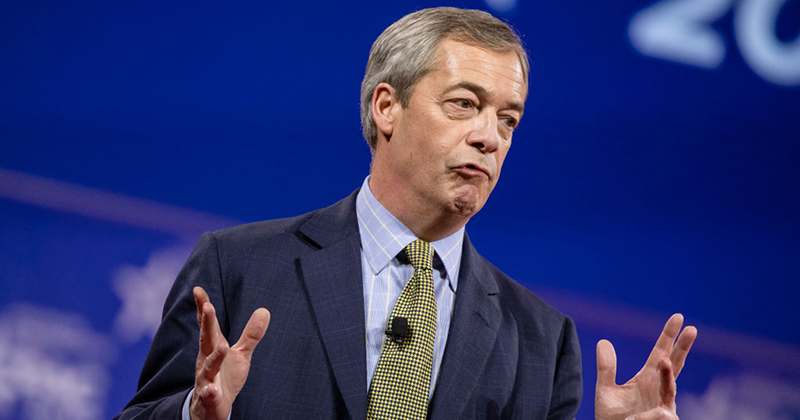 Nigel Farage Will Campaign to Quickly Retire 'Police State' Coronavirus Powers