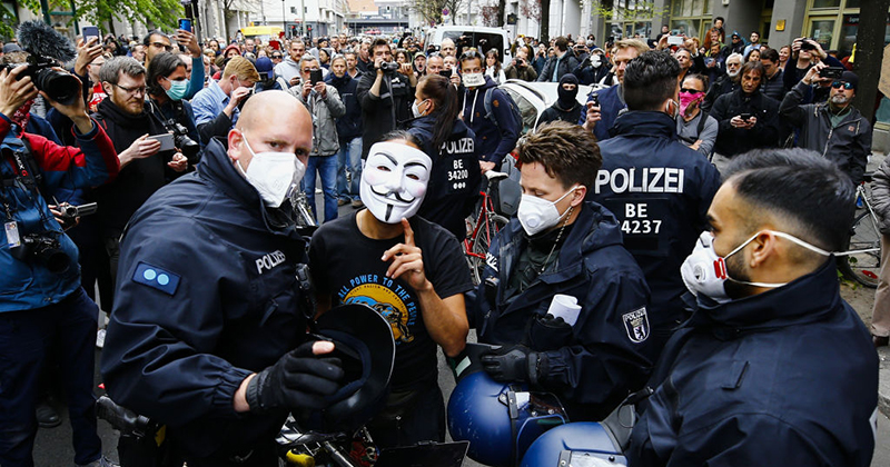 """I Want My Life Back"" - German Anti-Lockdown Protests Worsen"