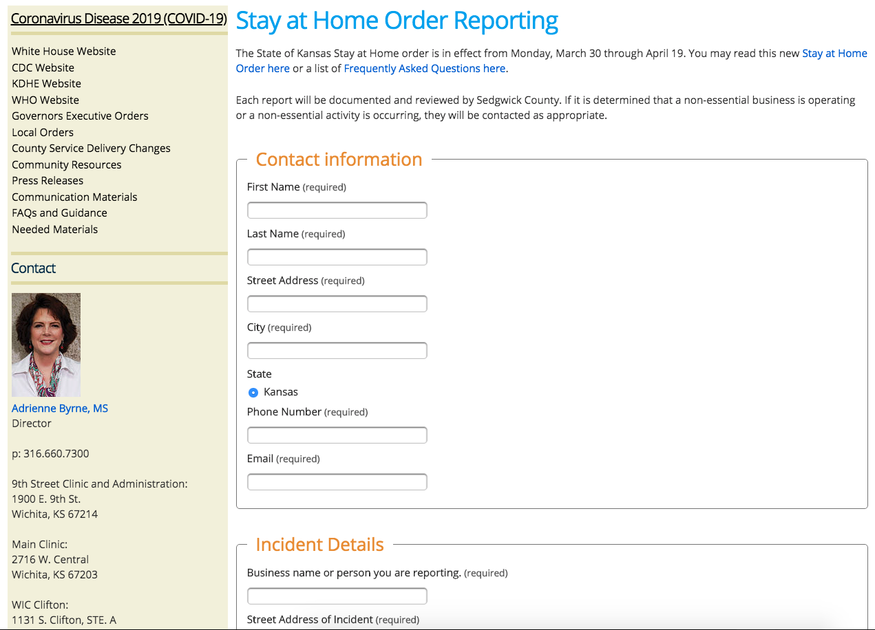 """County Launches Website For Citizens To Report Neighbors Violating """"Stay-at-Home"""" Order"""