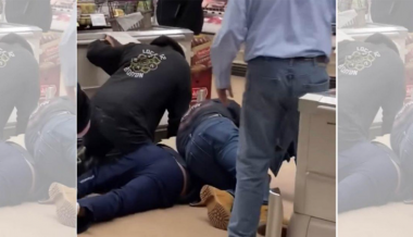 VIDEO: Shoppers tackle man spitting, coughing on grocery store produce