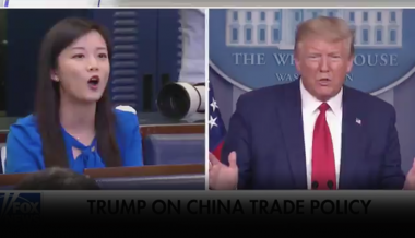 Watch: Trump In Tense Exchange With Communist Chinese Propaganda Agent