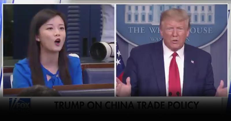 Watch: Trump In Tense Exchange With Communist Chinese Propaganda Agent