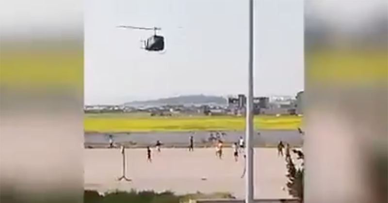 Watch: Army Helicopter Used To Disperse Youth Soccer Game Amid Virus Lockdown