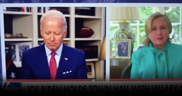 Watch: Biden Struggles To Stay Awake During Hillary Interview