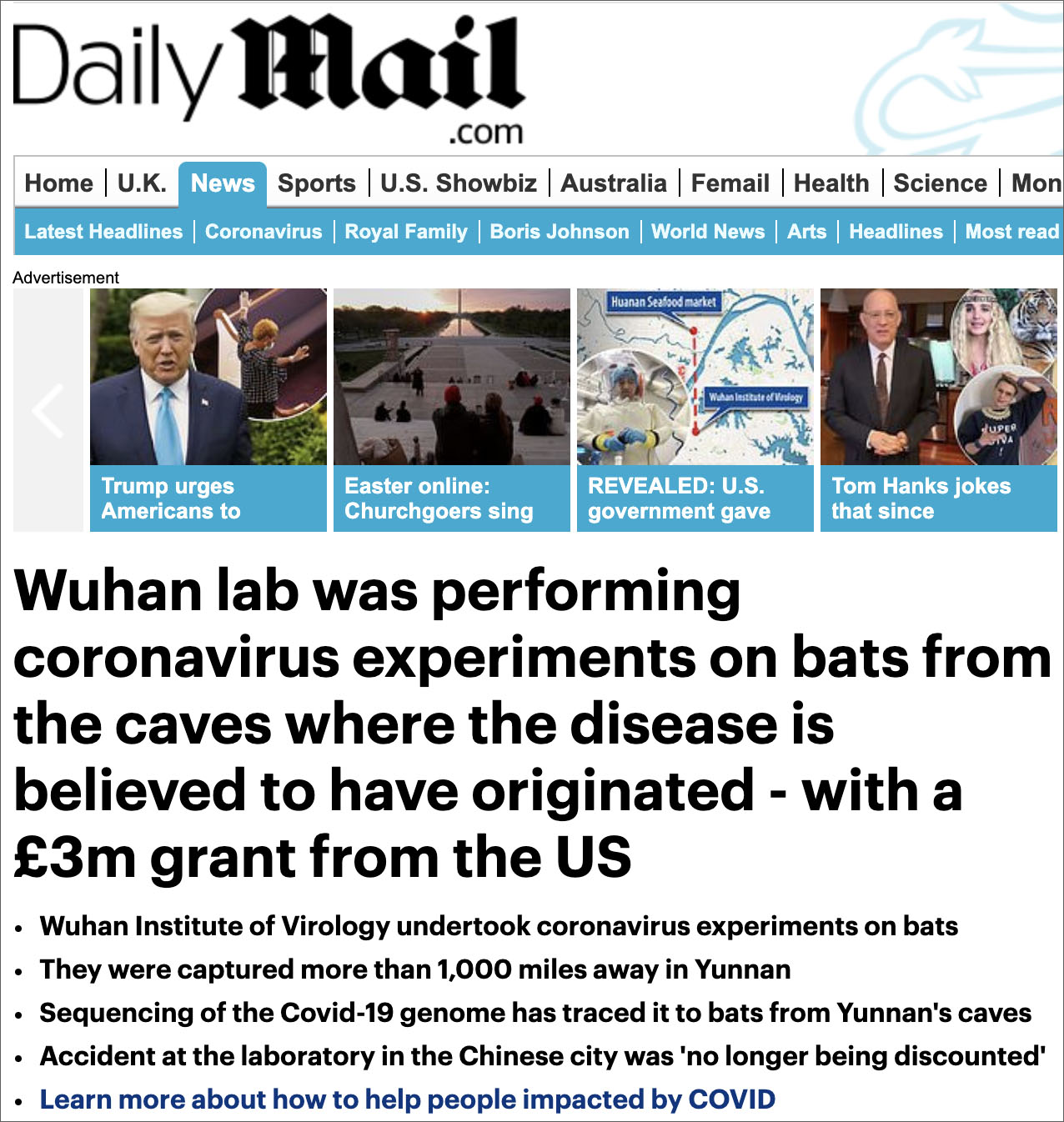 Global Bombshell: China Admits To Harvesting & Testing COVID-19-Like Coronaviruses At Wuhan Lab
