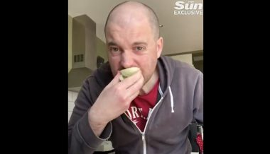 Video: Man Drinks Vinegar, Chomps Raw Onion to Illustrate Major Coronavirus Symptoms