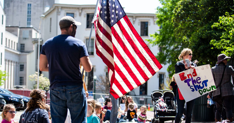 Watch Live: Weekend of Rallies Kick Off to Reopen America, As Patriots Defy Tyranny