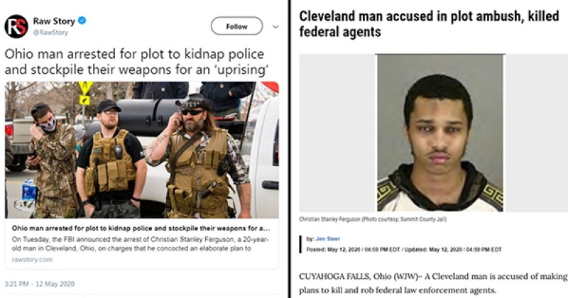 Leftist Website Uses Image of White Protesters to Depict Story About Black Terror Suspect