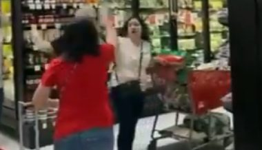 Video: Woman Driven Out of Grocery Store by Angry Mob For Not Wearing a Mask