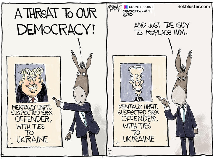 Trump Biden Threat To Democracy