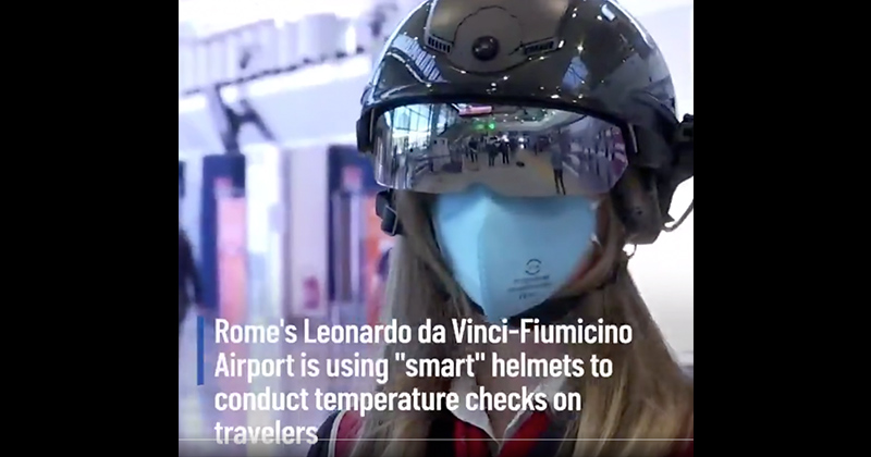 Italy Using Futuristic Helmets To Check Temps From 22 Feet Away