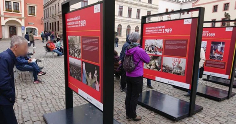 Czech Republic Puts Up Tiananmen Square Boards for Chinese Tourists