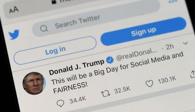"Twitter Censors Trump Tweet For ""Glorifying Violence"""
