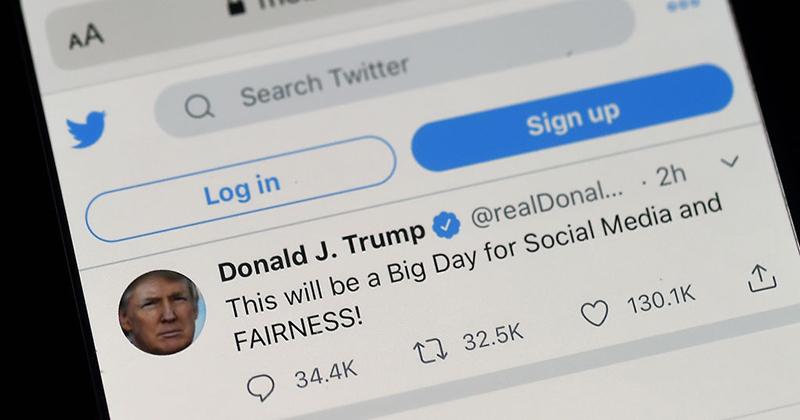 "Twitter Censors Trump Tweet For ""Glorifying Violence"""