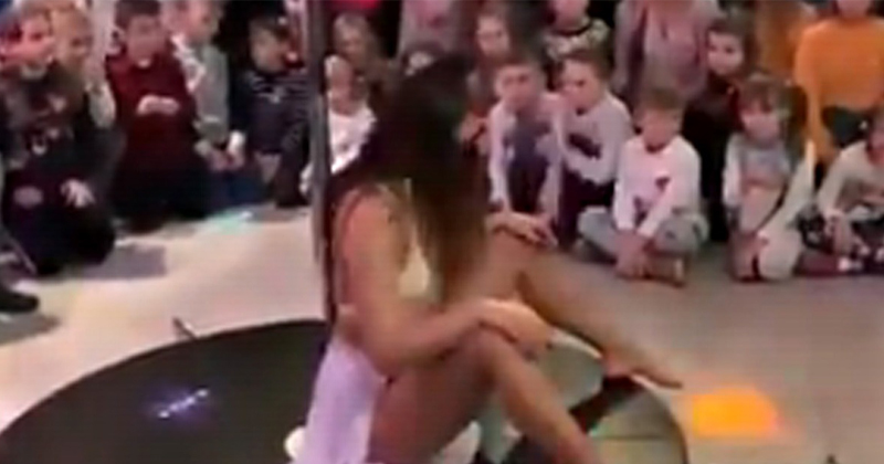 Watch: Stripper Performs in Front of Elementary School Students, Parents