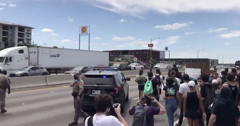 Watch: Infowars Reporters Attacked Covering Austin Protests, Mob Blocks Major Highway