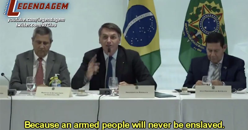 'What These Sons of Bitches Want Is Our Freedom!': Bolsonaro Vows To Arm Brazilians To Prevent Dictatorship