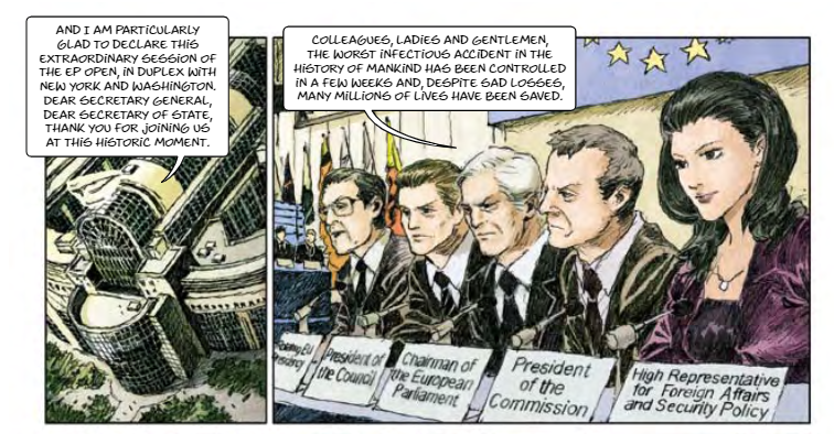 Bizarre EU Funded Comic Book Predicted Pandemic, With Globalists As Saviours Cartoon1
